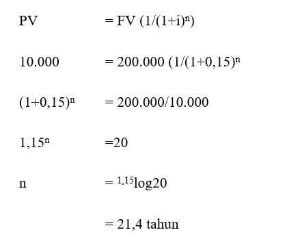 menentukan jumlah periode