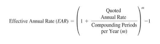 rumus effective annual rate (EAR)
